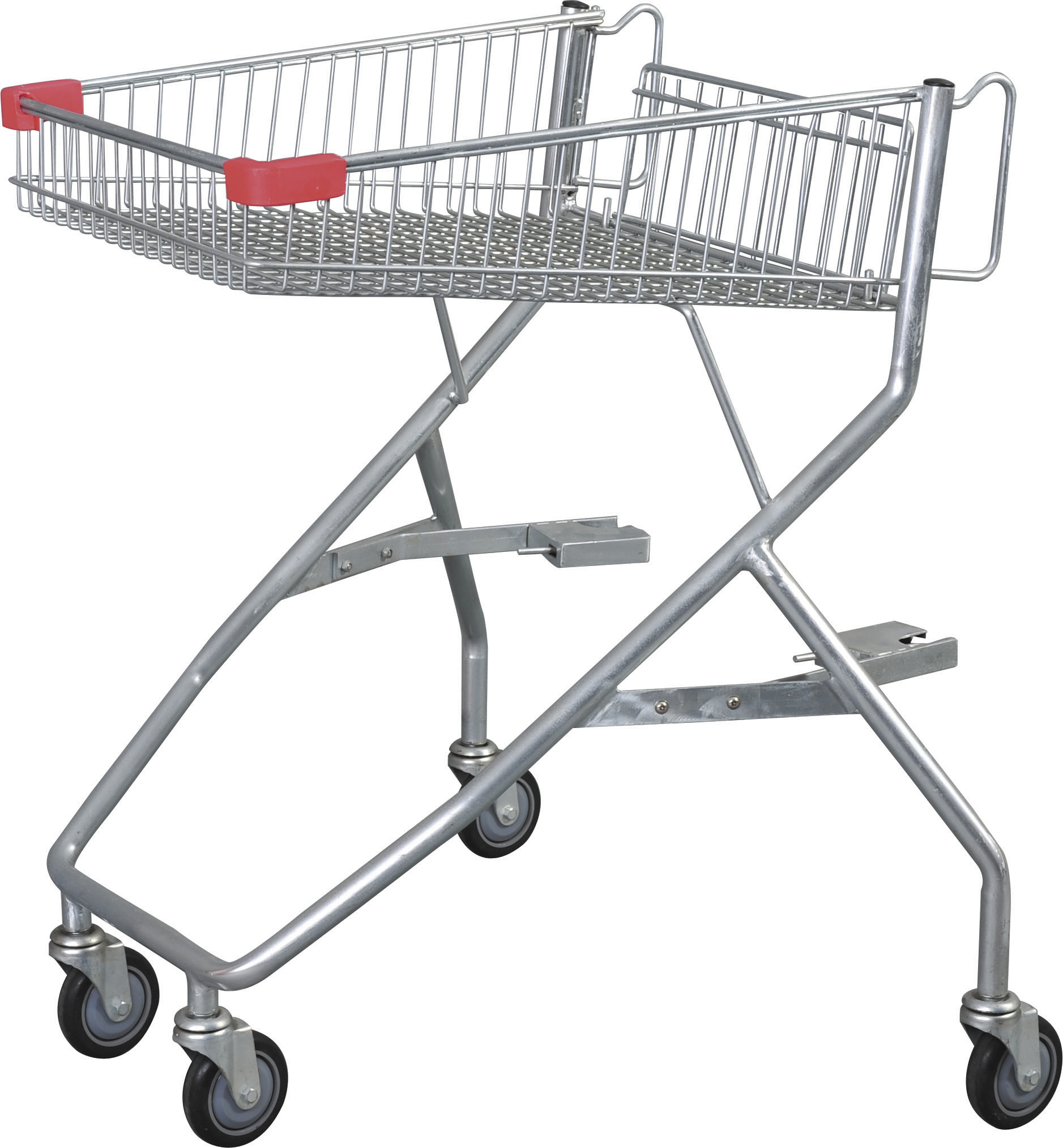 80L -  120L Lower Metal Basket Disabled Shopping Trolley For Wheel Chairs